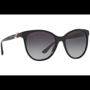 BVLGARI 817B 5518 501/8G CAT EYE BLACK SUNGLASSES
